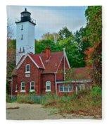 Presque Isle Lighthouse Fleece Blanket
