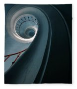 Pretty Blue Spiral Staircase Fleece Blanket