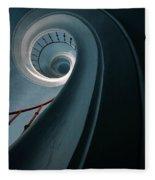 Pretty Blue Spiral Staircase Fleece Blanket