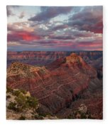 Pretty In Pink Fleece Blanket by Rick Furmanek
