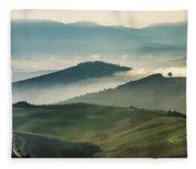 Pretty Morning In Toscany Fleece Blanket