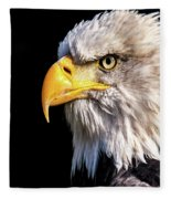 Profile Of Bald Eagle Fleece Blanket
