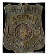 Prohibition Agent Badge Fleece Blanket