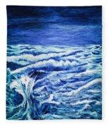 Promethea Ocean Triptych 3 Fleece Blanket