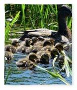 Proud Mother Duck Fleece Blanket