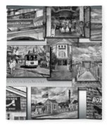 Provincetown Cape Cod Massachusetts Collage Pa Bw Fleece Blanket
