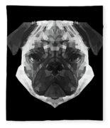 Pug's Face Fleece Blanket