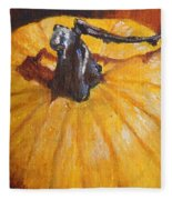 Pumpkin Delight Fleece Blanket