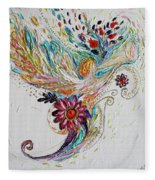 Pure Abstract #4. Trumpeting Angel Fleece Blanket