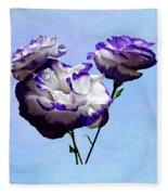 Purple And White Lisianthus Fleece Blanket