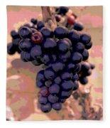 Purple Grape Bunches 18 Fleece Blanket