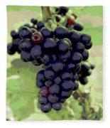 Purple Grape Bunches 19 Fleece Blanket