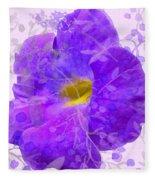 Purple Morning Glory With Pattern Fleece Blanket