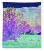 Purple Tree Reverie Fleece Blanket
