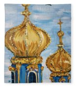 Pushkin Palace Towers Fleece Blanket