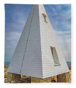 Pyramid Bell Tower Maine Fleece Blanket
