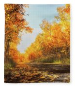 Quiet Time Fleece Blanket by Rick Furmanek