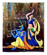 Radhakrishna Fleece Blanket
