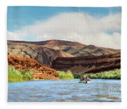 Rafting On The San Juan River Fleece Blanket