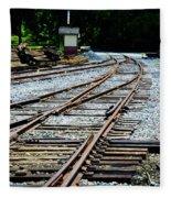 Railroad Siding Tracks Fleece Blanket