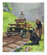Railway Automobile Fleece Blanket