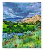Rain Clouds On The Way To Sweetwater Fleece Blanket