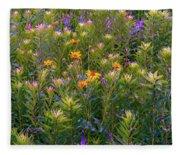 Rainbow Garden Fleece Blanket