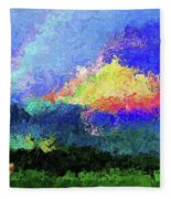Rainbow Mountain - Breaking The Gridlock Of Hate Number 5 Fleece Blanket