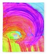 Rainbow Shell Fleece Blanket