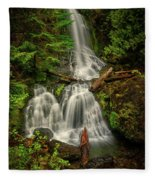 Rainier Falls Creek Falls Fleece Blanket
