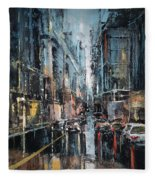 Rainy Expression Fleece Blanket