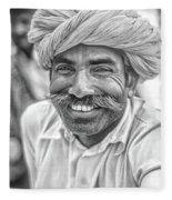 Rajput High School Teacher Bw Fleece Blanket
