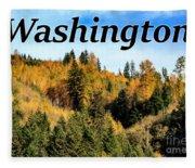 Randle Washington In Fall 02 Fleece Blanket