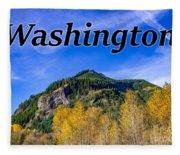 Randle Washington In Fall Fleece Blanket