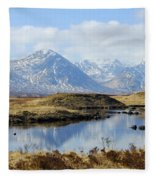 Rannoch Moor In Winter Fleece Blanket