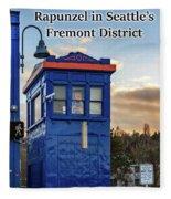 Rapunzel In Seattle's Fremont District Fleece Blanket