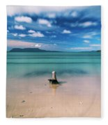Raspins Beach In Orford On The East Coast Of Tasmania. Fleece Blanket