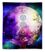 Reach Out To The Stars Fleece Blanket by Bee-Bee Deigner
