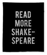 Read More Shakespeare Vintage Fleece Blanket