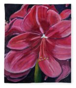 Red Amaryllis  Fleece Blanket