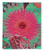 Red And Green Bloom Fleece Blanket