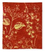 Red Blossoms Fleece Blanket