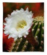 Red Bougainvillea Background For White Argentine Giant Flower Fleece Blanket