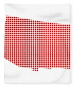 Red Dot Map Of Arizona Fleece Blanket