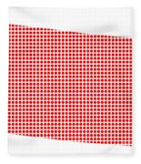 Red Dot Map Of Colorado Fleece Blanket