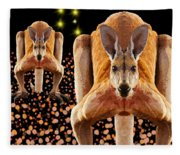 Red Kangaroos Fleece Blanket