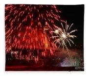 Red Over Niagara Falls Fleece Blanket