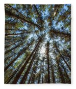 Red Pines 1 Fleece Blanket