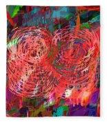 Red Swirls Fleece Blanket