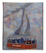 Red Tram Fleece Blanket